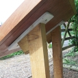 Timber lectern rear