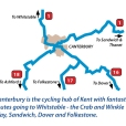 Schematic map of cycle routes