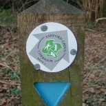Waymarker disc with logo