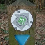 Waymarker disc with logo