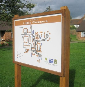 housing estate map signs