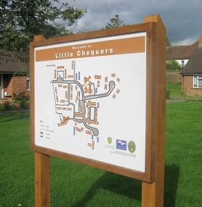 housing estate map signs