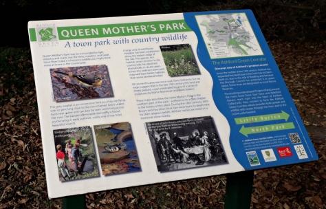 interpretation panel, queen mothers park
