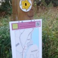 Map signage on trail