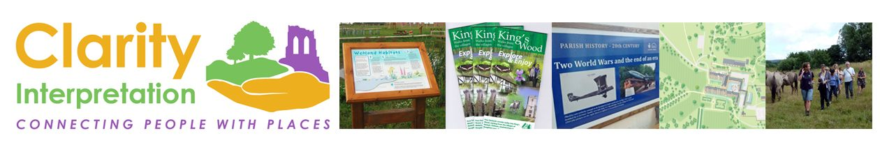 Interpretation panels, leaflets, exhibitions, signs